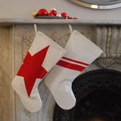 Recycled Sail Holiday stockings